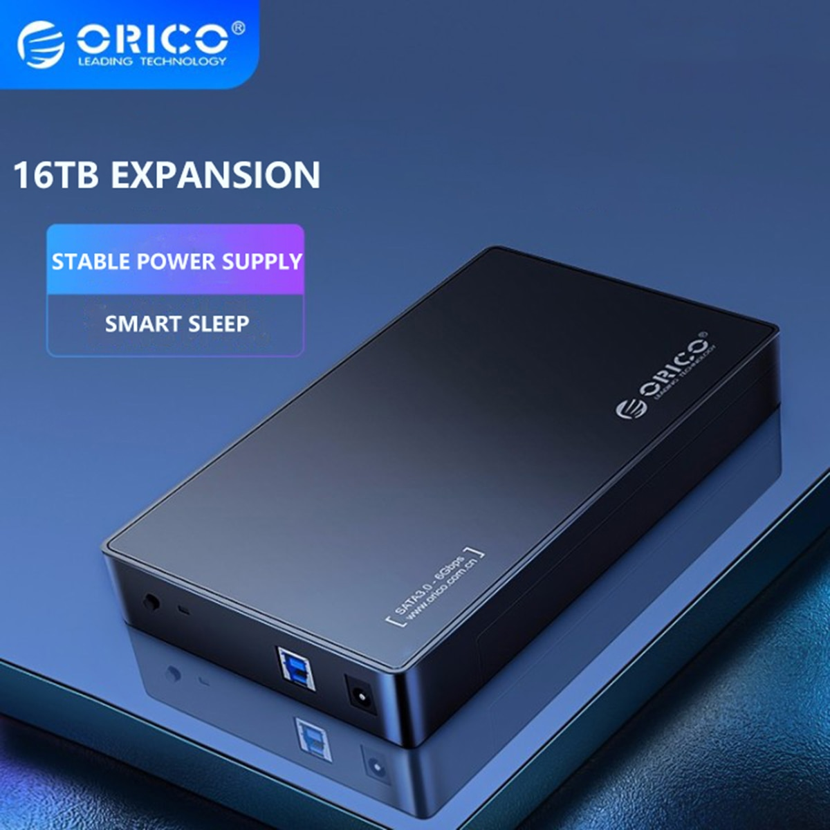 ORICO 3.5 بوصة HDD حافظة قرص صلب خارجي ضميمة SATA إلى USB 3.0 5Gbps HDD صندوق ل 2.5 3.5 SSD أسود حافظة أقراص-free