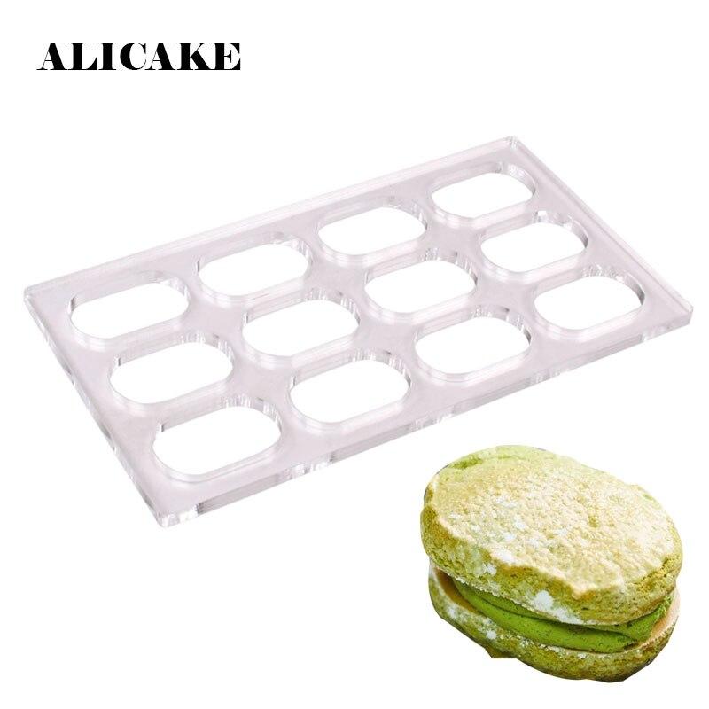 Dacquoise قالب كعكة مربع 24 تجويف البولي البلاستيك الفرنسية الحلوى أداة قالب المطبخ