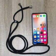Housse de protection collier bandoulière corde pour Huawei profiter 5S Ascend G8 mini GR3 TAG-L01 L03 L21 L22 P8 Lite housse de bandoulière intelligente