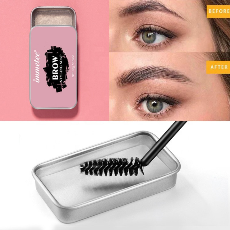 Makeup Eyebrow Gel Brows Wax Waterproof Long-Lasting 3D Feathery Wild Brow Styling Soap For Eyebrows