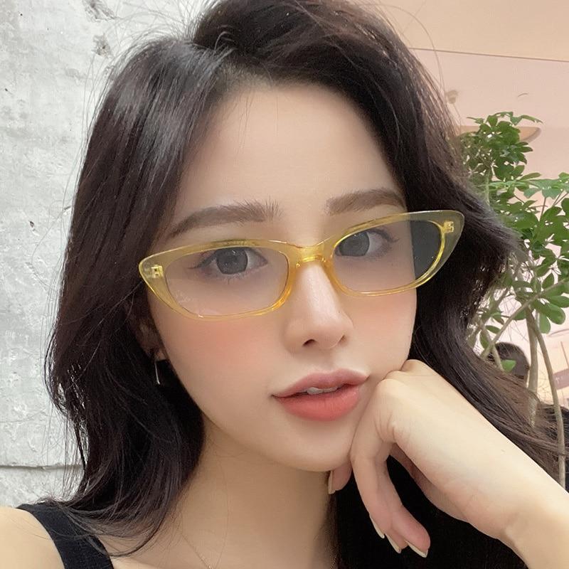 LONSY Sexy Cat Eye Retro Sunglasses Women Fashion Small Cateye Sunglasses Female Shades Ladies Trend