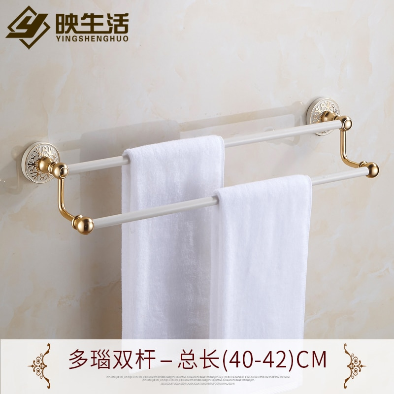 Bathroom Organizer Towel Rack Hanging Holder Bathroom Products Support Bars Home Accessories Space Saver Toallero Shelf EH50TR