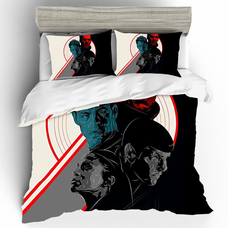 Edredon Movie Star Bedding Sets Duvet Cover Home Textile Single Queen King Size Trek Bedding Set Pillow cases Bed Linen