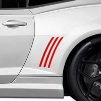 For Chevy Camaro 2010-2015 Panel Sticker Glossy L R Vinyl 12  6pcs Accessories
