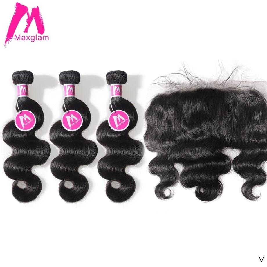 Brazilian Body Wave Human Hair Weave Bundles with Frontal Short Long Natural remy Hair Extension For black women 3 bundles