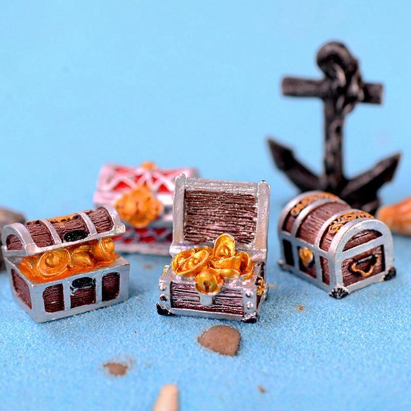 Аквариумная Коробка С Сокровищами, мини-аквариумный пейзаж, украшение для средиземноморского морского дна
