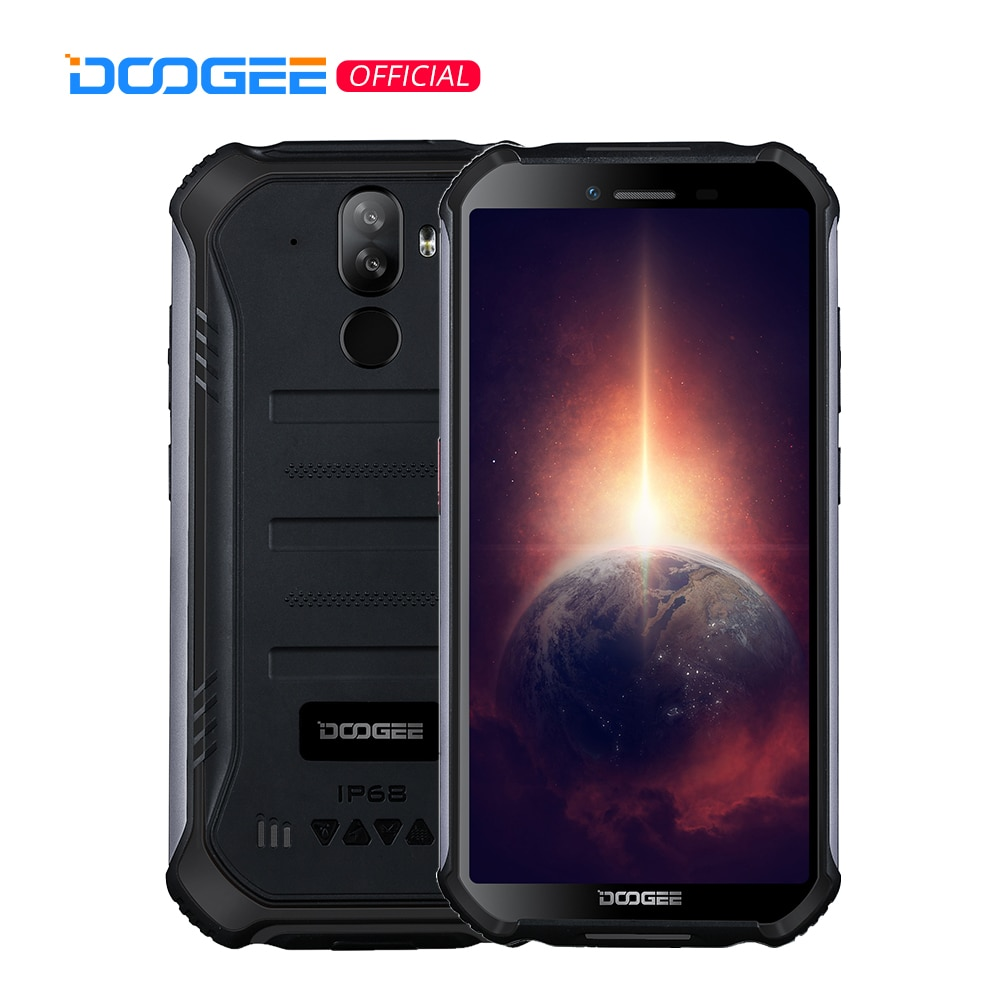 DOOGEE S40 Pro Android 10 прочный мобильный телефон IP68/IP69K 4 Гб Оперативная память 64 Гб Встроенная память Водонепроницаемый смартфонов Helio A25 Восьмиядер...