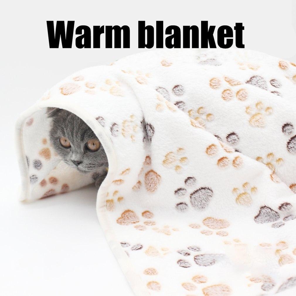 Alfombrilla cama para mascotas, nido Universal grueso de lana Coral, manta para...