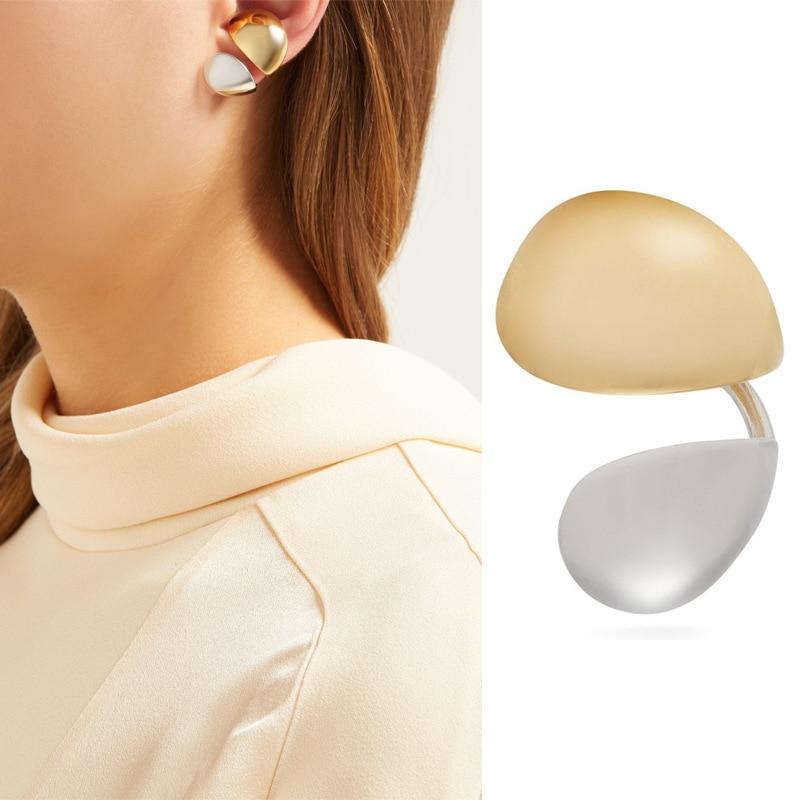 Pechera de pétalos sin perforación, sin agujeros, para mujeres, doble color, ins errinigs 2020