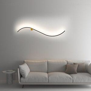 New Simple LED Wall Lamp Bedroom Bedside Living room Black wall Lights for Corridor Aisle Balcony Modern LED Sconce Lamp Fixture