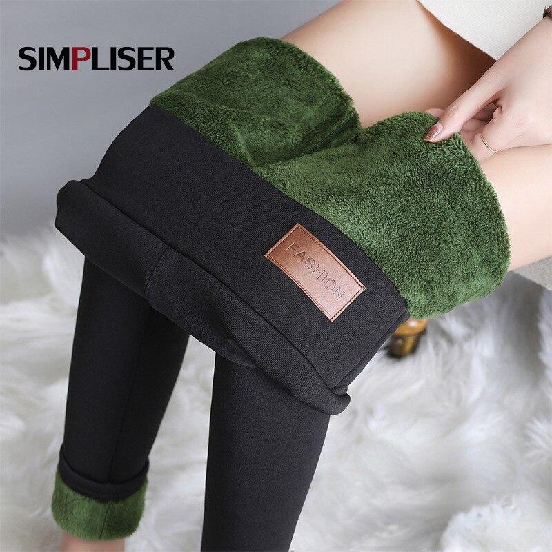 Плотные флисовые теплые брюки, зимние женские брюки стрейч, женские облегающие брюки-карандаш размером 4XL, бархатные леггинсы из ягненка