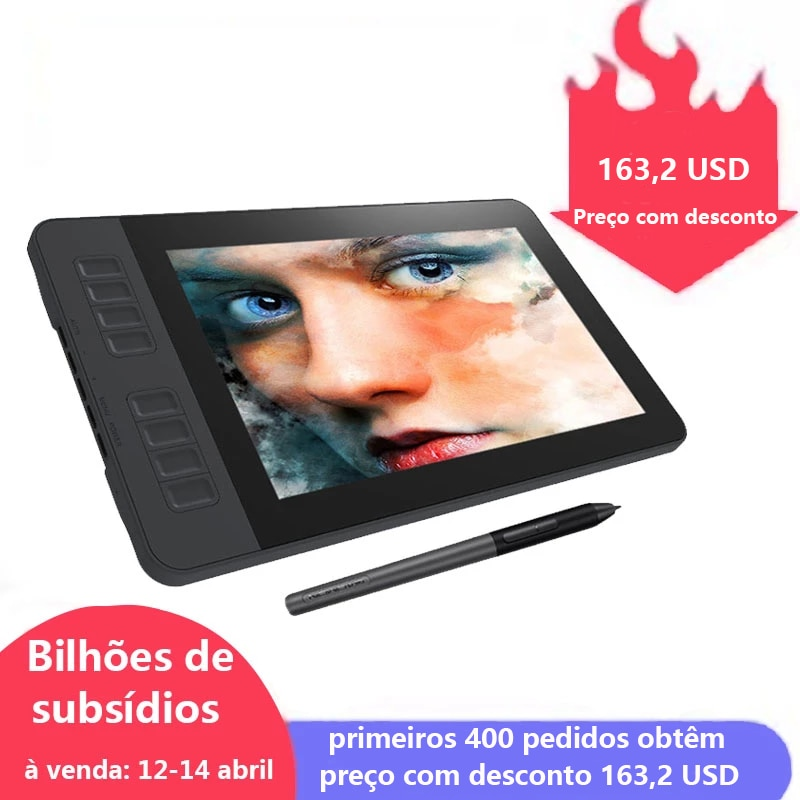 aliexpress.com - GAOMON PD1161 IPS HD Graphics Drawing Display Digital Tablet Monitor With 8 Shortcut Keys & 8192 Levels Battery-Free Pen