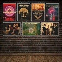 Affiches de musique en papier Kraft Dragon Of Dreams  bande de Rock  affiches murales de Bar  decor de maison  autocollant mural