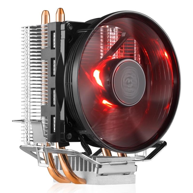 Cooler Master RR-T2V1-20FK 2 медные тепловые трубки кулер для процессора T20 4pin 95,5 мм тихий светодиодный вентилятор охлаждения процессора для Intel 775 115X AMD ...