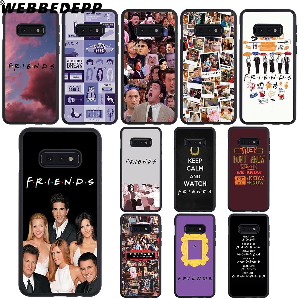 WEBBEDEPP amigos TV mejor amigo caso suave para Samsung Galaxy Note8 9 A10 A20 A40 A50 A60 A70 M10 M20 M30 cubierta