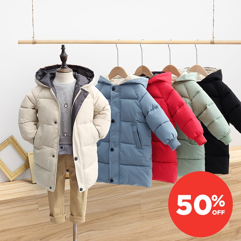 Children Jackets Coats Baby Boys Girls Outerwear Clothes Parkas Warm Winter Autumn Long Snowsuit Down Padded Puffer Hooded 2021 winter clothes for boys kids down suits 2018 baby girl jacket clothes sets overalls warm children outerwear jumpsuit snowsuit
