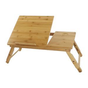 Подставка для ноутбука KKTONER, стол на коленях с регулируемыми ножками, 100% бамбуковый складной поднос для завтрака (натуральный)