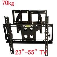 DL-D-110ST 23-55 5070kg big LCD PLASMA corner wall mounted bracket angle adjustable metal bracket VESA 600X400 6 ARMS