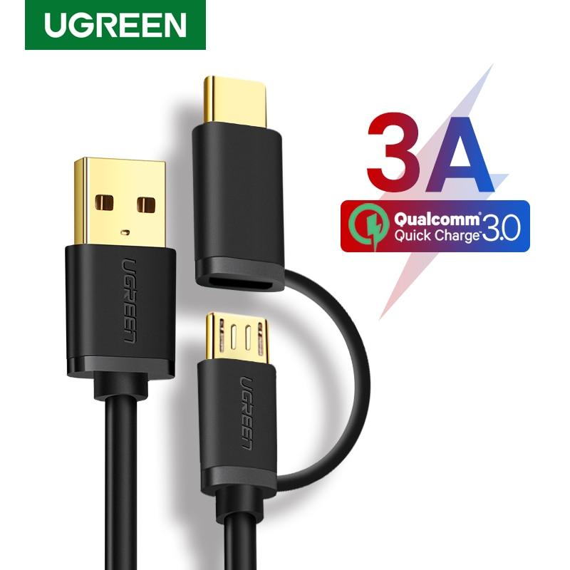 Ugreen USB tipo C para Samsung Galaxy S10 S9 2 en 1...