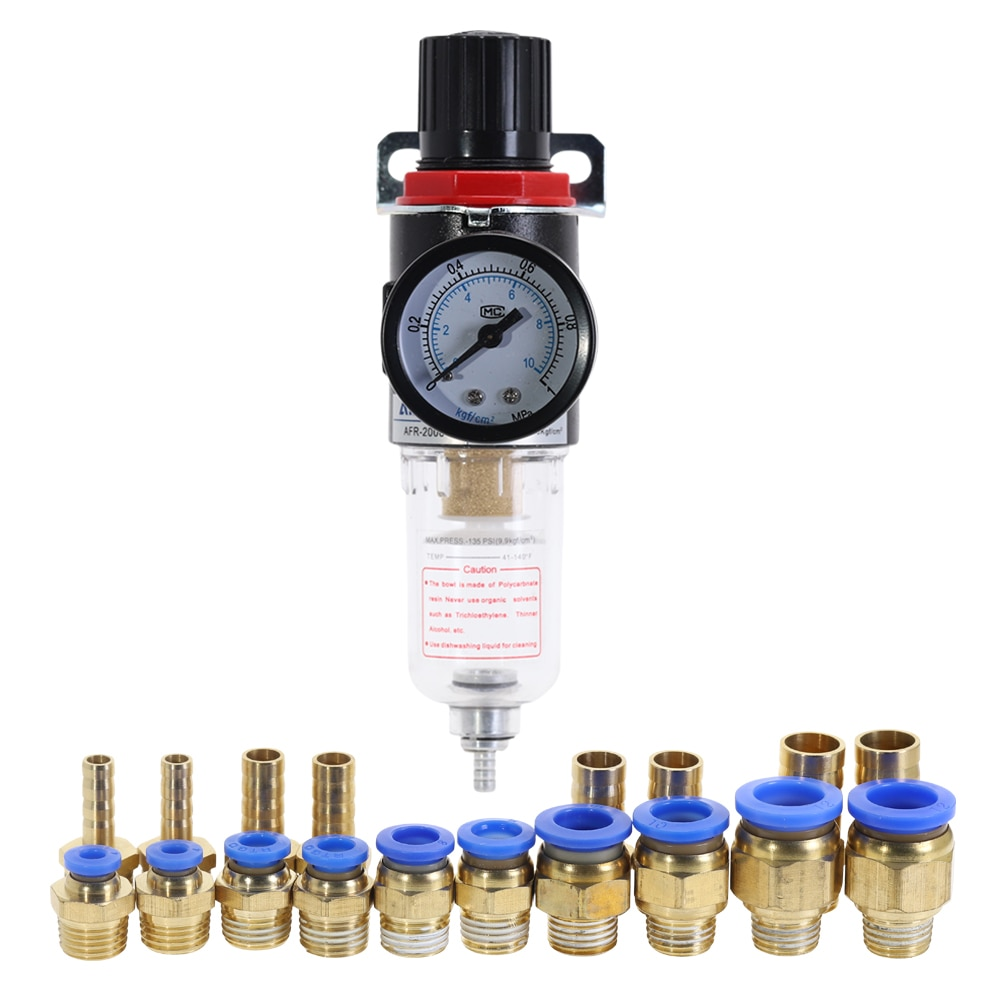 AFR-2000 Pneumatic Filter Regulator Air Treatment Unit Pressure Switches Gauge AFR2000