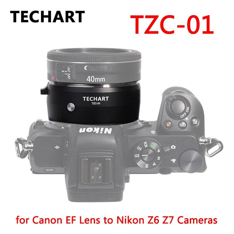 TECHART TZC-01 Lens Adapter for Canon EF Lens to Nikon Z6 Z7 Z50 Camera Adapter Ring EF-NK Z Mount Auto Focus AF