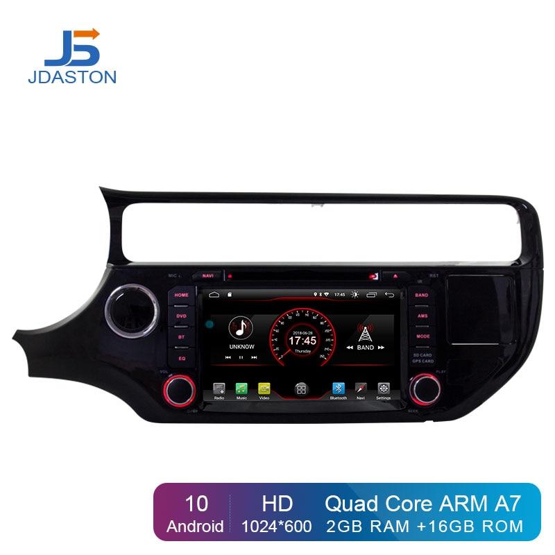 Reproductor de DVD Multimedia para coche JDASTON Android 10,0 para KIA Rio K3 2015 2016, Radio de coche 2 Din, navegación estéreo con GPS, WIFI, Bluetooth, RDS