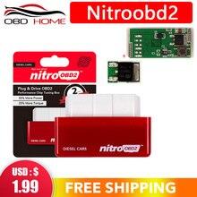 Nouvelle boîte de réglage de puce de voiture Diesel NitroOBD2 prise et entraînement boîte de réglage de puce OBD2 plus de puissance/plus de couple
