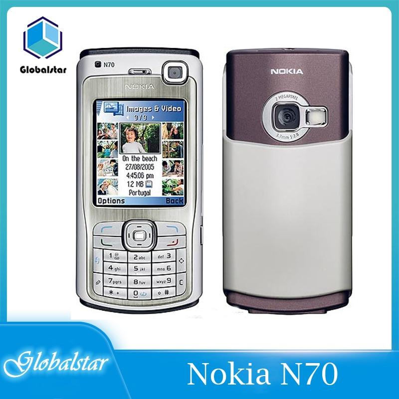 هواتف نوكيا N70 مجددة-هواتف محمولة أصلية راديو سيمبيان آي أو إس مع لوحة مفاتيح عربية شحن مجاني توصيل سريع