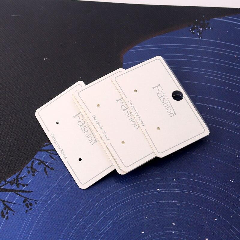Reciclado de papel, Tarjeta para presentación de joyas, 5x3cm, pendientes reutilizables de plástico, accesorios para tarjetas, embalaje