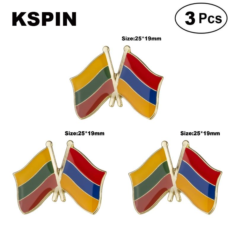 Lituania y Armenia broches de Pin de solapa Pins bandera insignia broche insignias