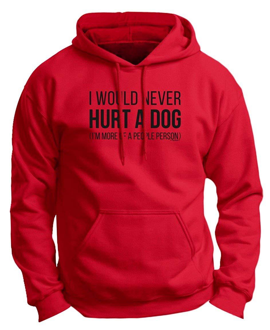 Divertido perro regalos nunca dañaría un perro cita regalo Premium Sudadera con capucha hombres mujeres sudadera