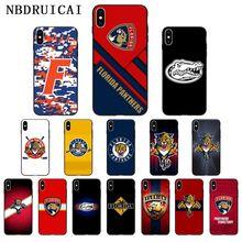 NBDRUICAI فلوريدا النمر التمساح عالية الجودة سيليكون الهاتف حقيبة لهاتف أي فون 11 برو XS ماكس 8 7 6 6S زائد X 5 5s SE XR