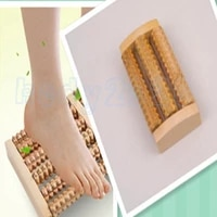 100pcs wood roller foot massager stress relief spa health care therapy anti cellulite hot heath therapy relax massage