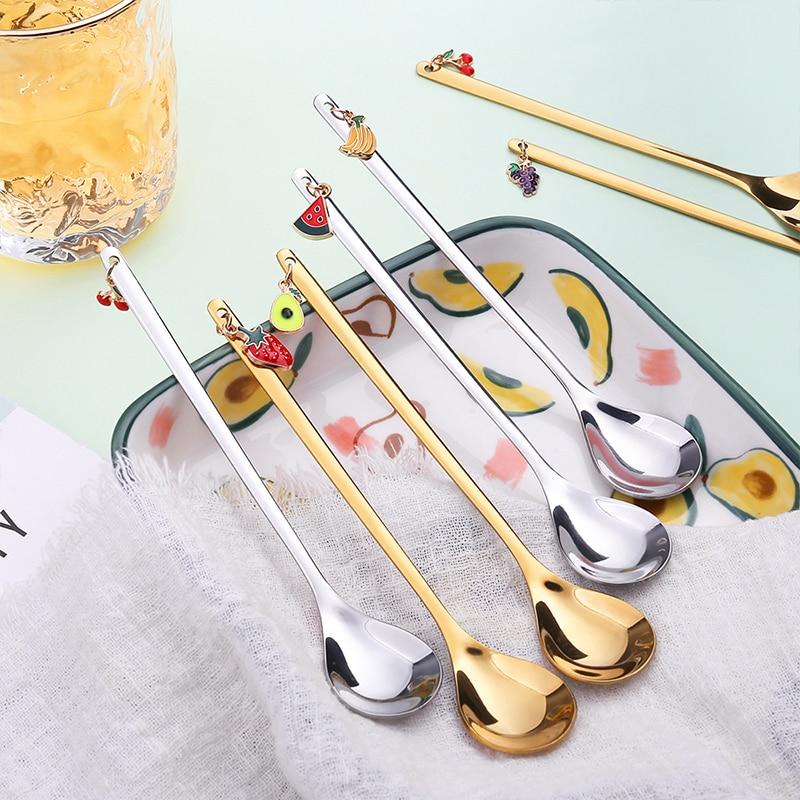 Необычные искусственные кофейные ложки, чайная ложка, десертная ложка, настольное украшение, рождественский подарок, кухонный инструмент