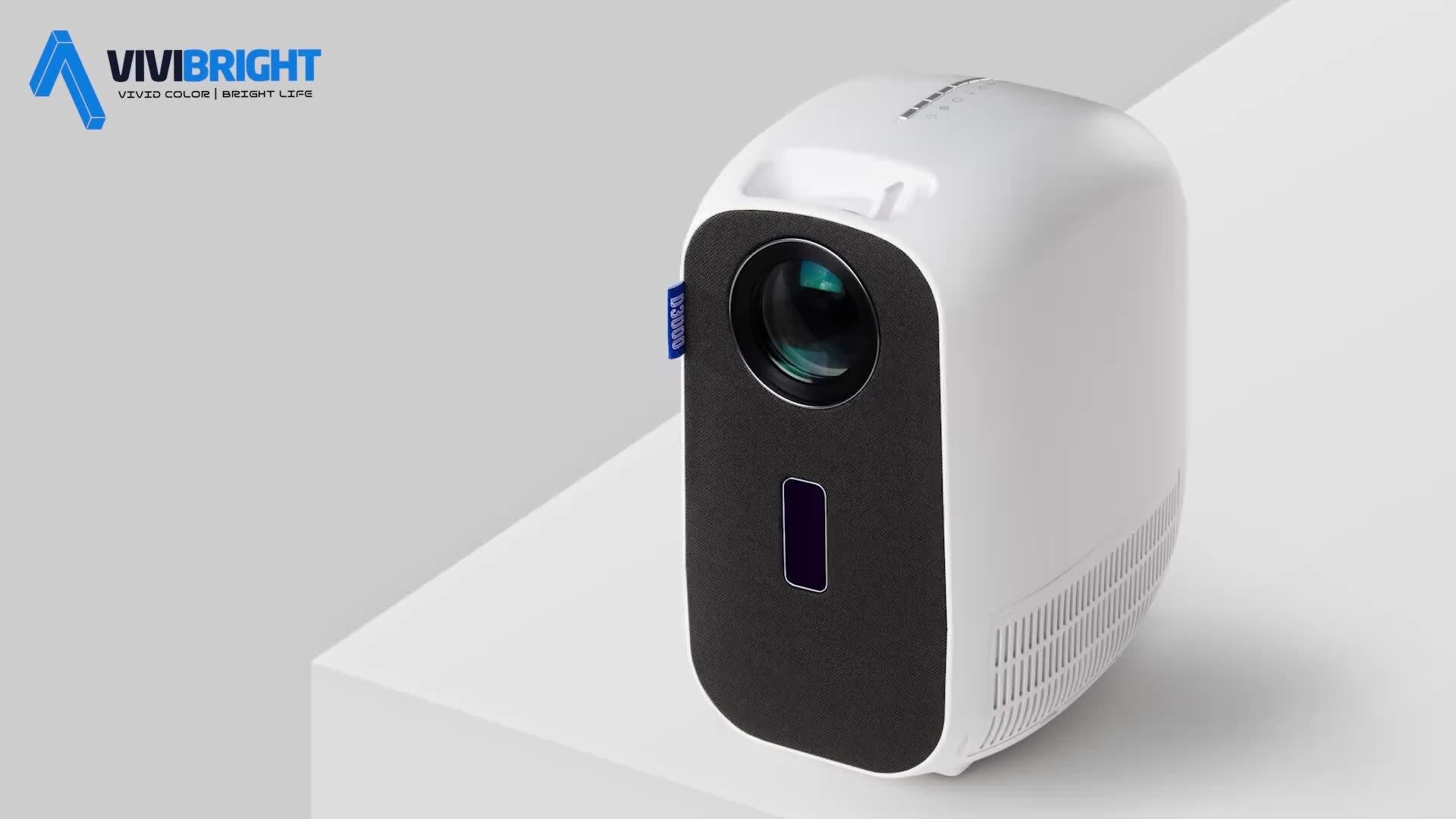 جهاز عرض vivitight D3000 جهاز عرض مكعب 1080p جهاز عرض الألعاب في الهواء الطلق