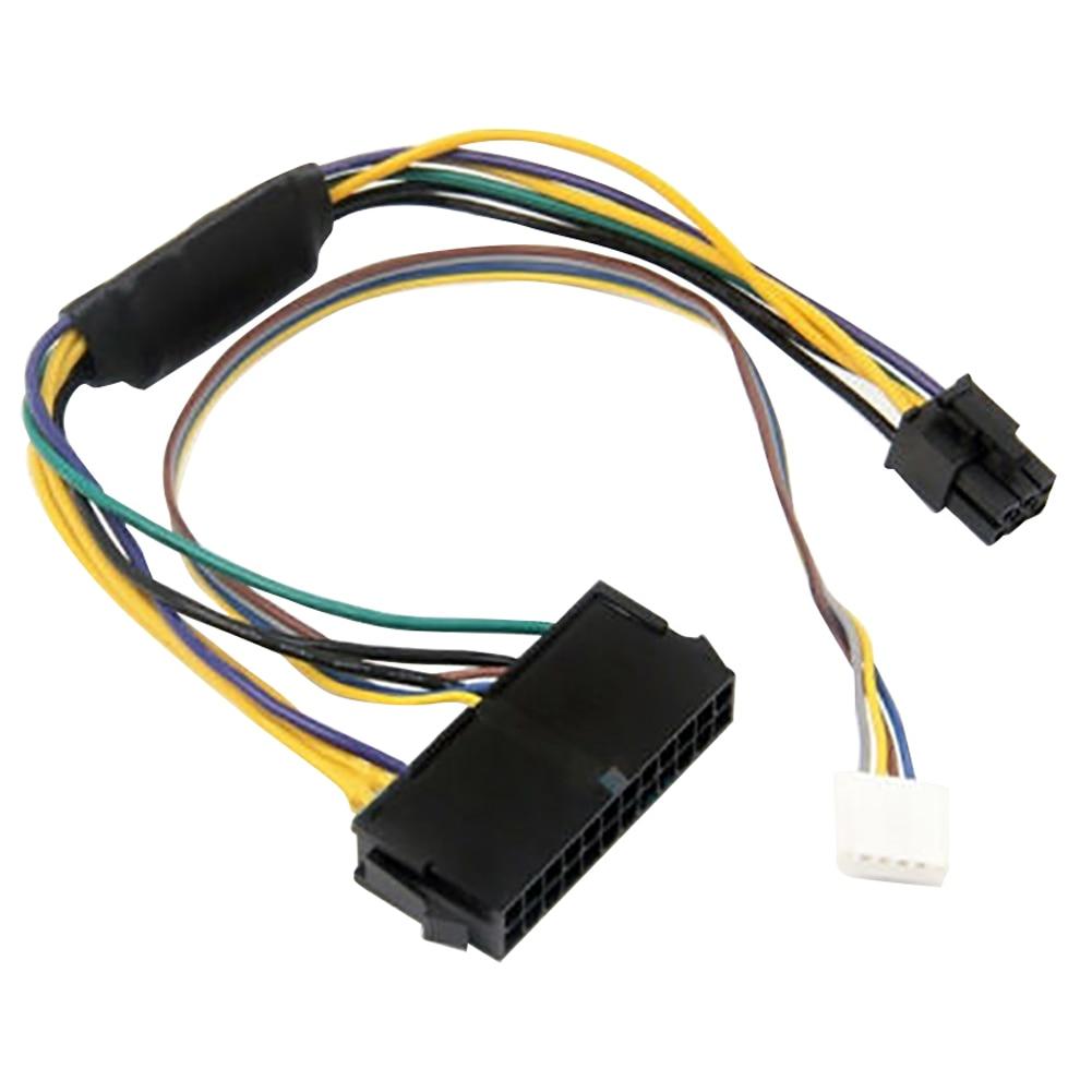 Substituição durável adaptador linha accessorizes cabo de alimentação 24pin para 6pin mainboard servidor placa-mãe para hp elite