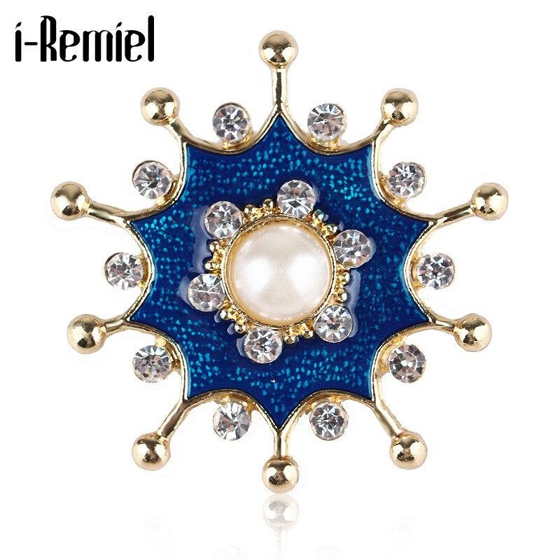 Vintage esmalte strass broche de metal pérola estrela lapela pino moda cachecol fivela roupas jóias para mulher masculino acessórios