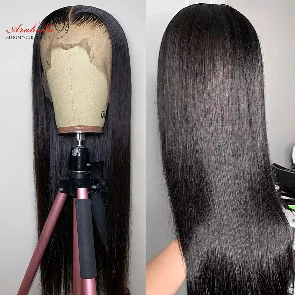13x5x2 Transparent Lace Frontal Human Hair Wigs With Baby Hair Straight T Part Wig Pre Plucked Closure Wig 13x4 Lace Front Wig