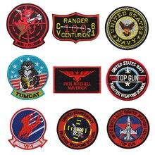 Insigne de broderie 3D VF-1/TOP GUN American Airlines pilote Patch armée ventilateur moral chapitre Patch brassard Denim vêtements veste icône