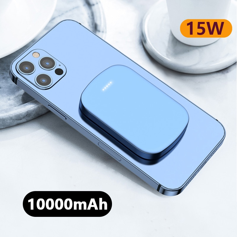10000mAh Wireless Charging For Magsafe Magnetic Power Bank Mobile Phone Battery 15W Fast For iphone12Pro 12ProMax 12mini Charger