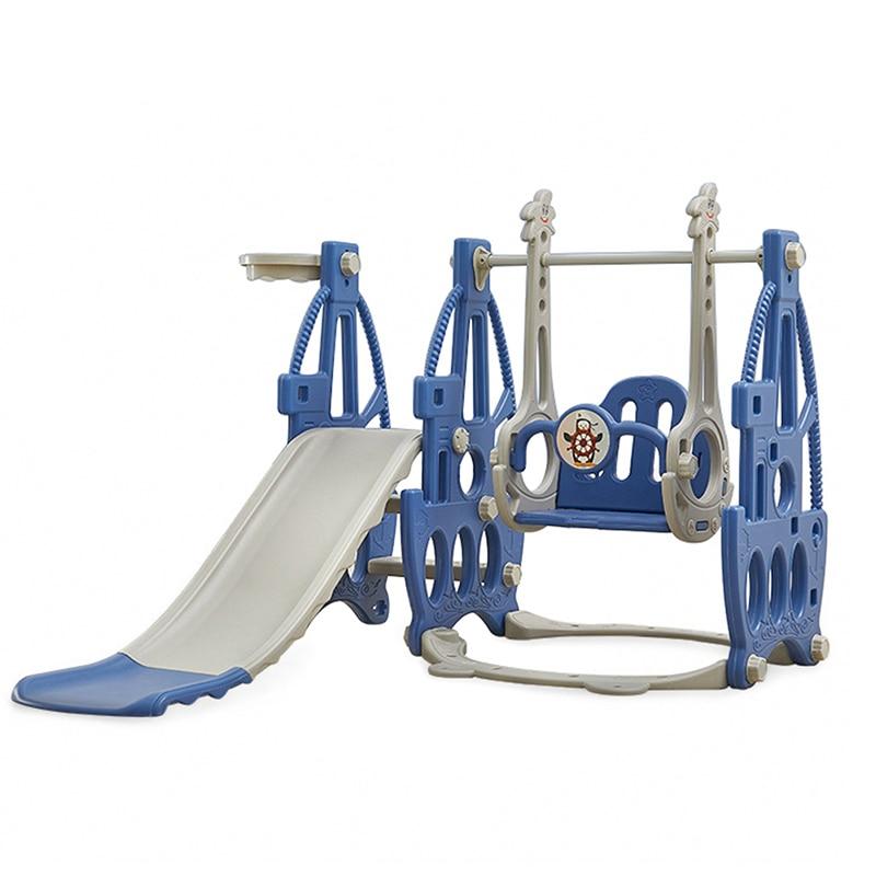 Baby Indoor Slides Home Kids Swing Chair 3 In 1 Plastic Slides Set Baby Indoor Playground Slides And Swing Combination