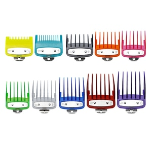 1Set/10Pcs Colorful Clipper Guide Combs Replacement Guards Set Fits for Most All Full Size for Wahl Hair Clippers
