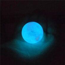 25 #1 sztuk Diy kryształ kwarcowy Luminous Ball kule rzemiosło dekoracyjne naturalny kamień świecący kalcyt niebieski świecące w ciemności
