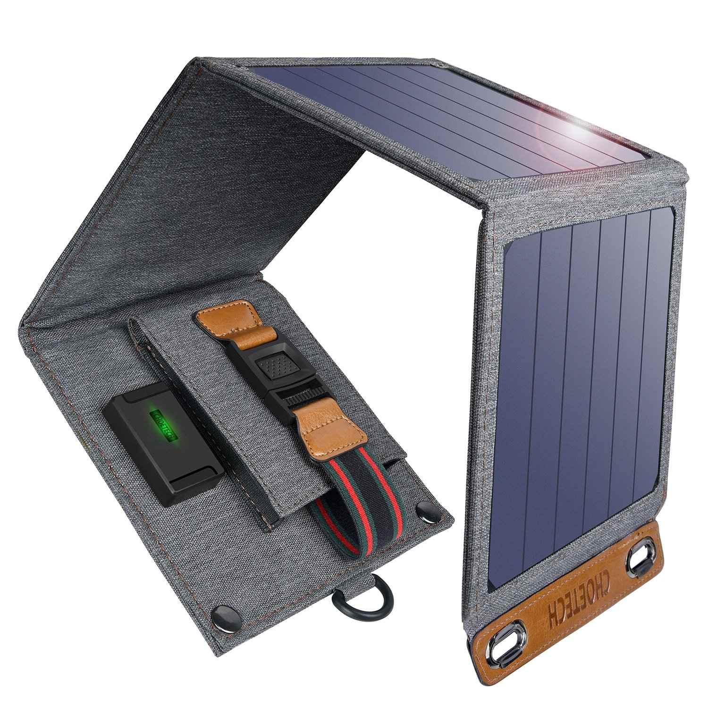 Choetech 14 واط طوي الشمسية شاحن الهاتف المحمول السفر في الهواء الطلق USB شاحن مع SunPower الألواح الشمسية مقاوم للماء آيفون