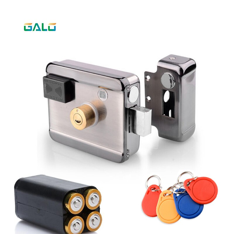 Door Access Control System Keyless Electronic Door Lock Swipe IC13.56MHZ Card LOCK Remote Control Lock Key Swipe Locks 1000Users electromechanical lock micro door operator small drawer cabinet electronic locks automatic access control