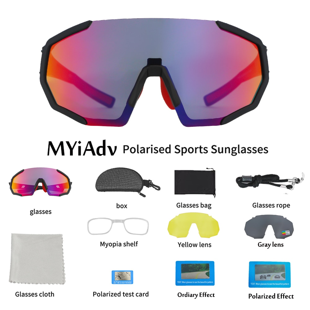 Polarized Cycling Goggles Men Women Eyewear UV400 with 3 Lenses Running Riding Fishing Outdoor Sports Sunglasses Bicycle Glasses cycling sunglasses for men road bicycle glasses mountain riding protection polycarbonate goggles eyewear outdoor sports 2021
