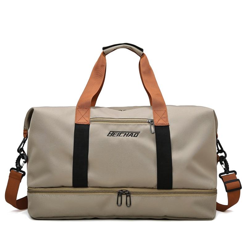 Large Capacity Travel Gym Tote Bag Casual Shoulder Bags Weekend Portable Waterproof Handbags 2021