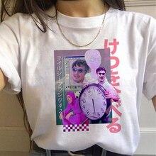 Vaporwave estetik 90s moda T shirt kadın Harajuku Ullzang t-shirt grafik komik karikatür Tshirt Streetwear en Tees kadın