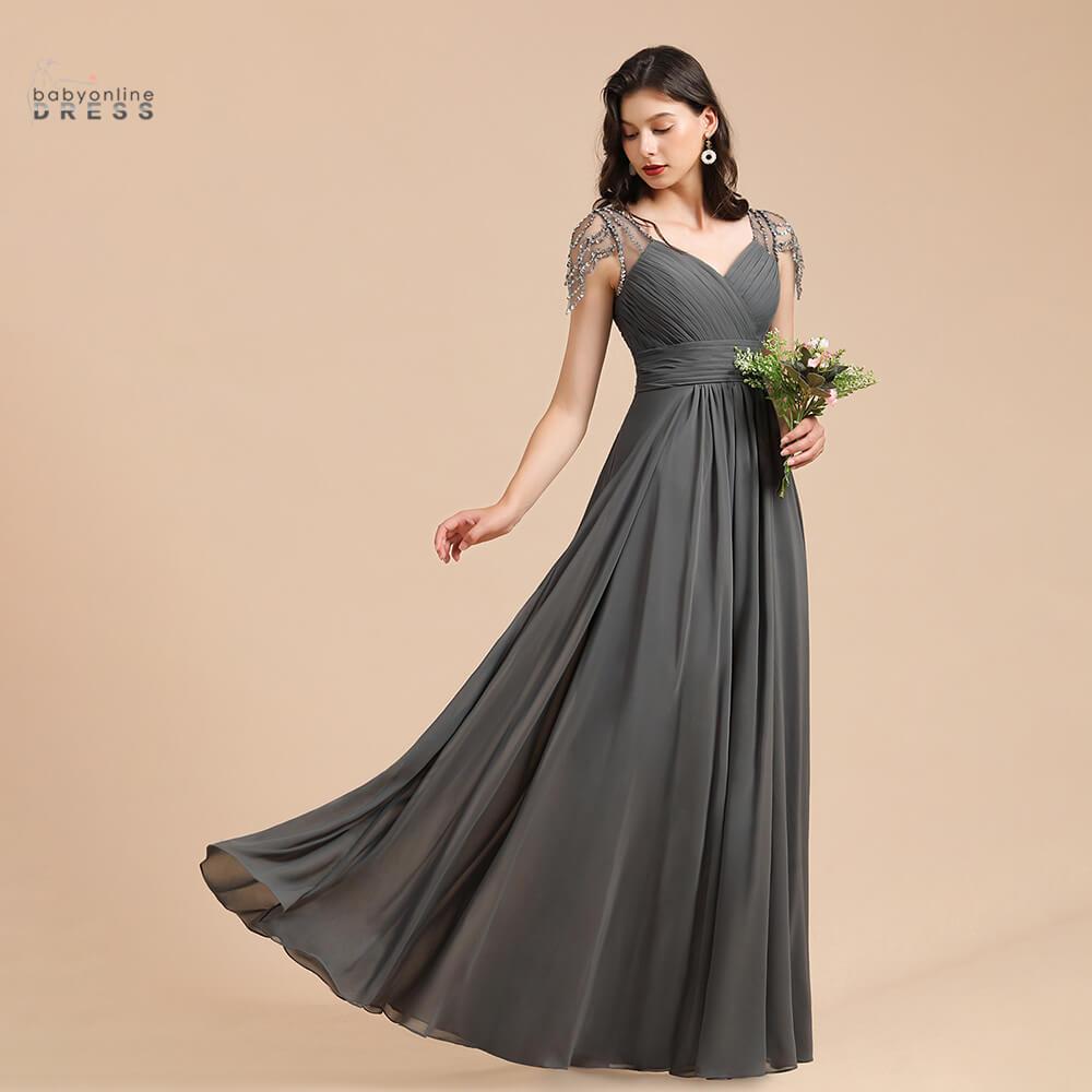 50 Colors Long Chiffon Evening Dress For Women Babyonlinedress Elegant Formal Wedding Party Gowns robe de soirée de mariage недорого