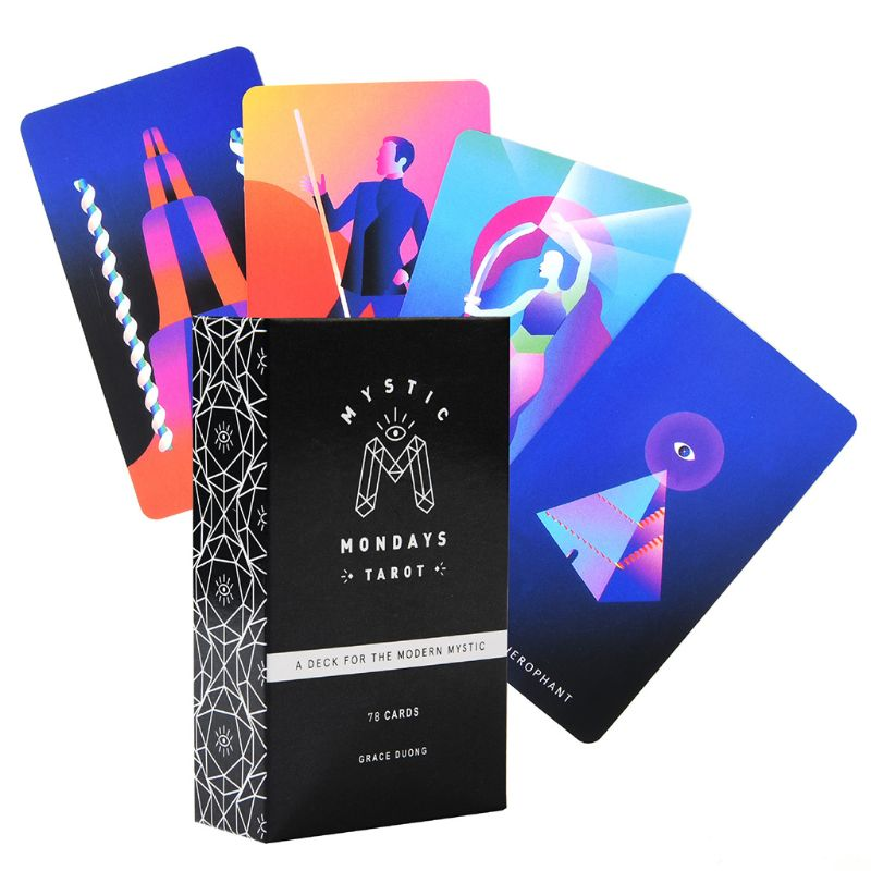 Mystic Mondays Tarot 78 Cards Tarot Deck English Prophet Tarot Cards Guidance Divination Fate Board Game Party Card Game D25 19